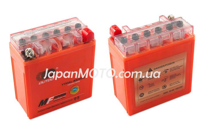 Аккумулятор 5A 12V (YTX5AL-BS) OUTDO гелевый - высокий 119x60x128, фото 2