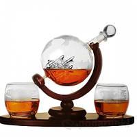 "Набор для виски со стаканами ""Вокруг света"" 850 мл 640014"
