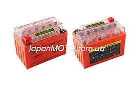 Аккумулятор 9A 12V (YTX9-BS) OUTDO гелевый с индикатором 152x88x106