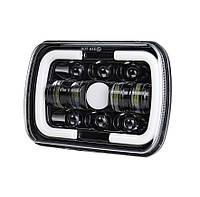Фари прямокутні LED 5х7 дюйми, 45 Вт, Jeep Cherokee  Chevrolet Ford GMC Toyota, 12 В, 45 Вт, WM-F5X7