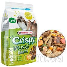 Корм для карликовых кроликов Versele-Laga Crispy Muesli Rabbits Cuni Верселе-Лага Криспи Мюсли Куни, 1 кг