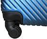 Чемодан пластиковый на 4х колесах малый  S морской   23х55х37 см   3.150 кг   35 л   FLY 2702 , фото 5