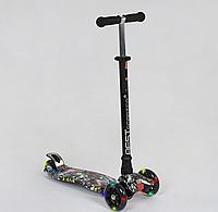 """Самокат """"BEST SCOOTER"""" А 24642 /779-1386 MAXI, пластик, 4 колеса PU, світло, алюмінієва трубка, d=12см"""