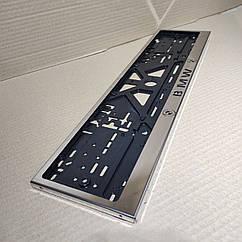 Рамка для номера номерного знака из нержавейки нержавеющей стали с надписью BMW