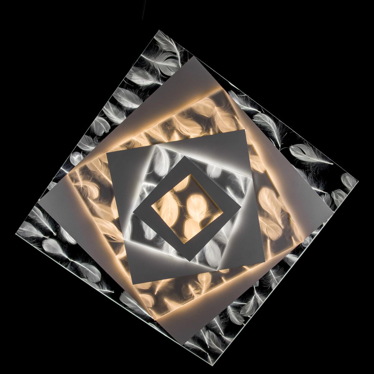 Накладная светодиодная люстра с диммером (Перья) P5-Y1681/146W