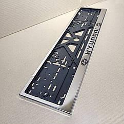 Рамка для номера номерного знака из нержавейки нержавеющей стали с надписью Hyundai