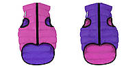 AiryVest Двостороння курточка для собак XS22 рожево-фіолетова 1710, фото 1