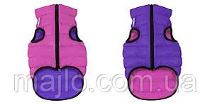 AiryVest Двостороння курточка для собак XS22 рожево-фіолетова 1710