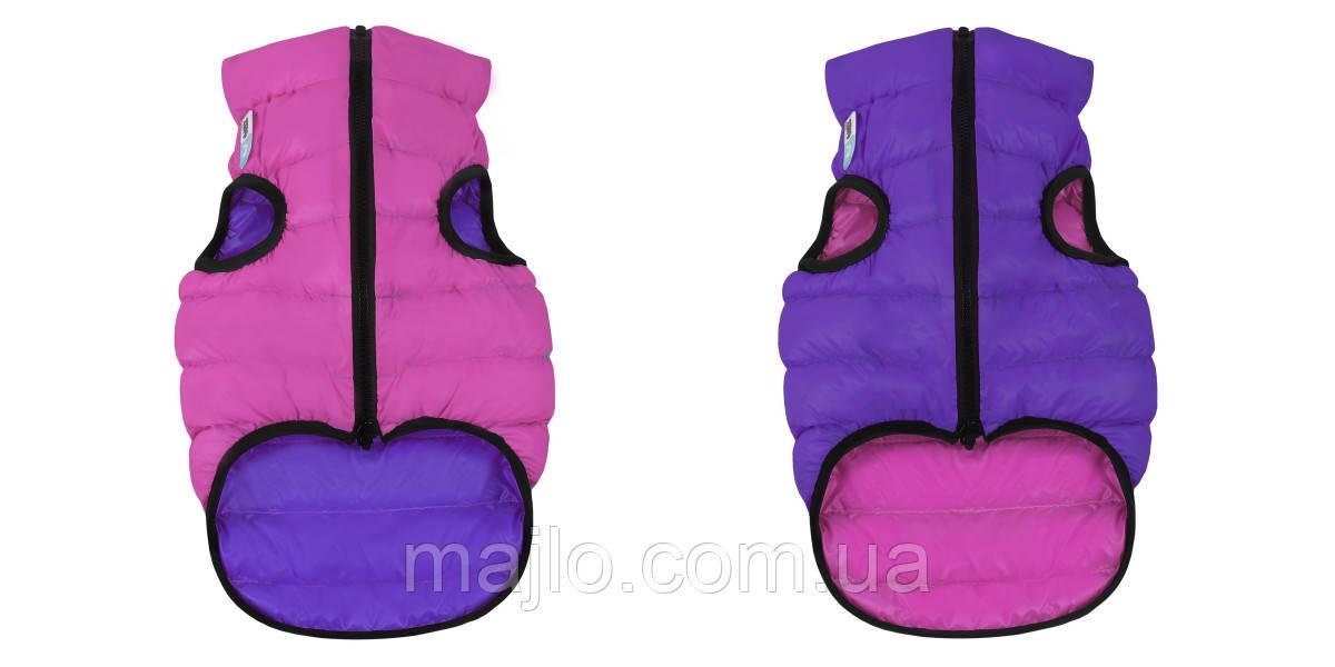 AiryVest Двостороння курточка для собак XS 25 рожево-фіолетова 1587