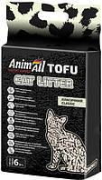 Наповнювач для котячого туалету AnimAll Тофу Classic Соєвий комкующий 2.6 кг (6 л)