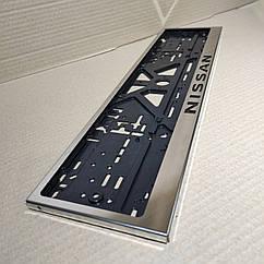 Рамка для номера номерного знака из нержавейки нержавеющей стали с надписью Nissan