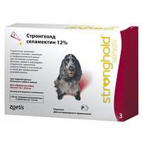 Краплі Стронгхолд 12%/120мг для собак 10-20 кг для боротьби та профілактики бліх, гельмінтів і кліщів Zoetis