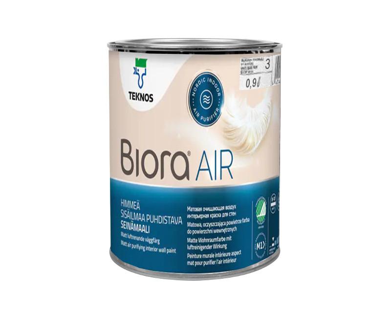 Краска противоформальдегидная TEKNOS BIORA AIR интерьерная транспарентная (база 3) 0,9л