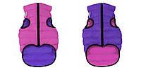 AiryVest Двостороння курточка для собак L 55 рожево-фіолетова 1575, фото 1