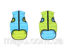 AiryVest Двусторонняя курточка для собак XS 25 салотово-голубая  1597
