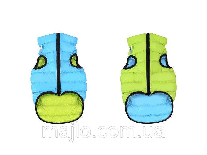 AiryVest Двусторонняя курточка для собак S 30 салотово-голубая  1608
