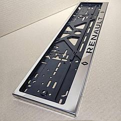 Рамка для номера номерного знака из нержавейки нержавеющей стали с надписью Renault