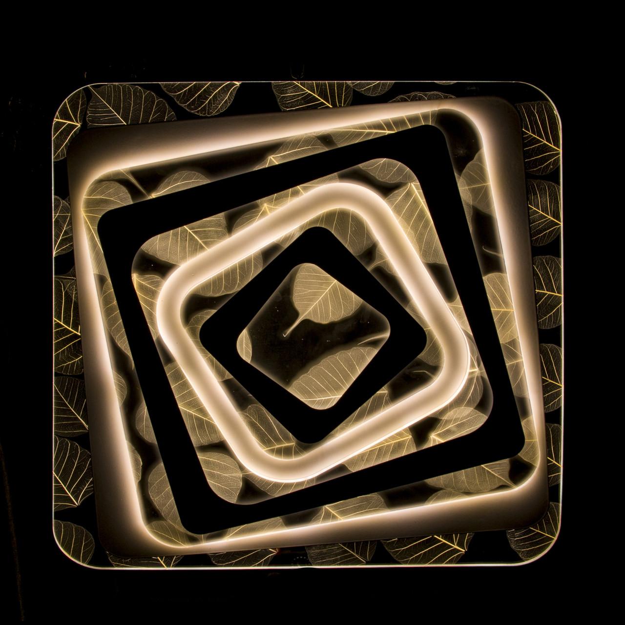 Накладная светодиодная люстра с диммером (Листья) P5-Y1683/216W/