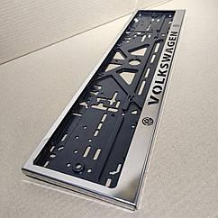Рамка для номера номерного знака из нержавейки нержавеющей стали с надписью VOLKSWAGEN