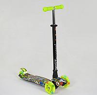 """Самокат """"BEST SCOOTER"""" А 24647 /779-1391 MAXI, пластик, 4 колеса PU, свет, трубка алюминиевая, d=12см"""