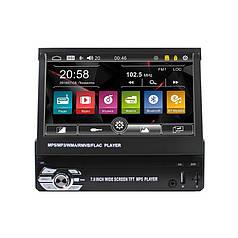 """Автомагнітола 7"""" Lesko 9602 1 DIN висувний екран USB перегляд відео 55 Вт"""