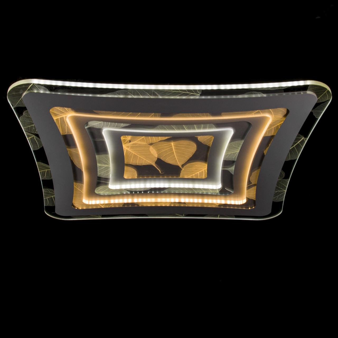 Накладная светодиодная люстра с диммером (листья)P5-Y1687/212W/