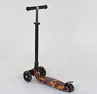 """Самокат """"BEST SCOOTER"""" А 24661 /779-1310 MAXI, пластик, 4 колеса PU, свет, трубка алюминиевая, d=12см"""