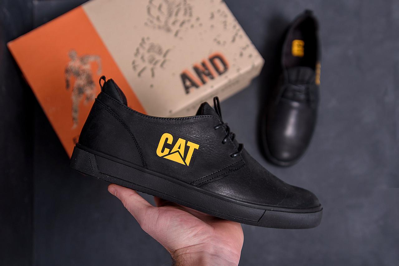 Мужские кожаные кроссовки CAT