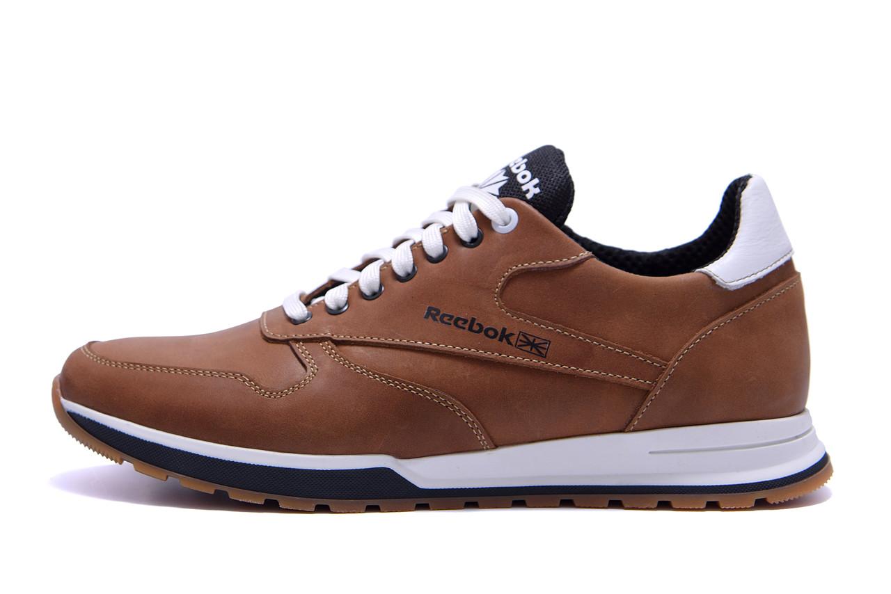 Чоловічі шкіряні кросівки Reebok Classic Leather Trail Сoffe (репліка)