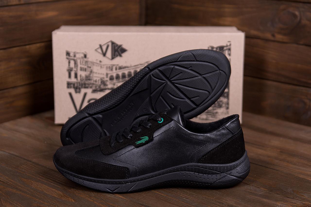 Чоловічі шкіряні кросівки Lacoste Lerond (репліка)