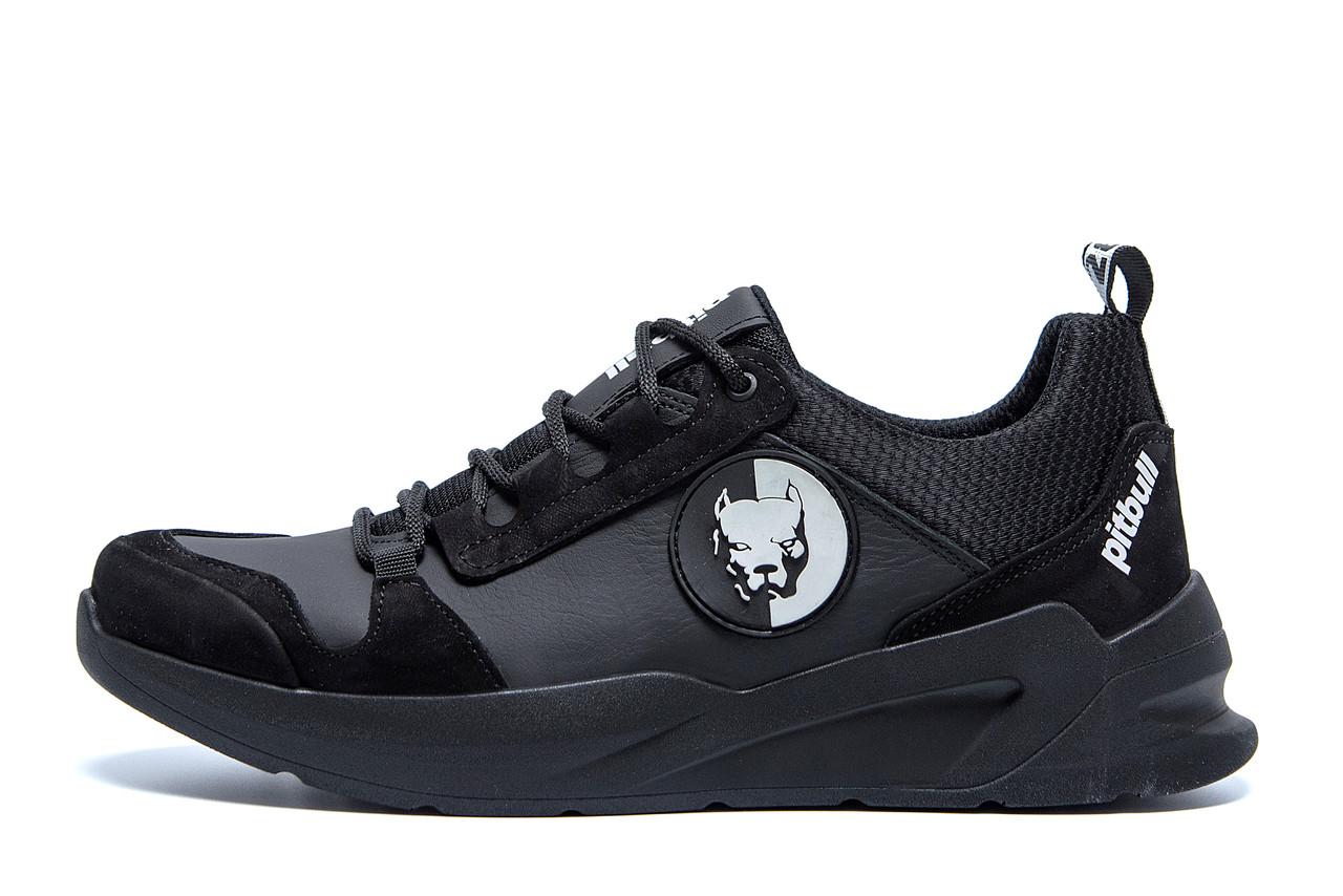 Чоловічі шкіряні кросівки Pitbull Black