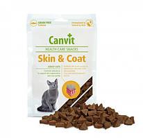 Canvit Skin&Coat Cat (Канвит Скін енд Коат) напіввологе функціональне ласощі для кішок 100 г