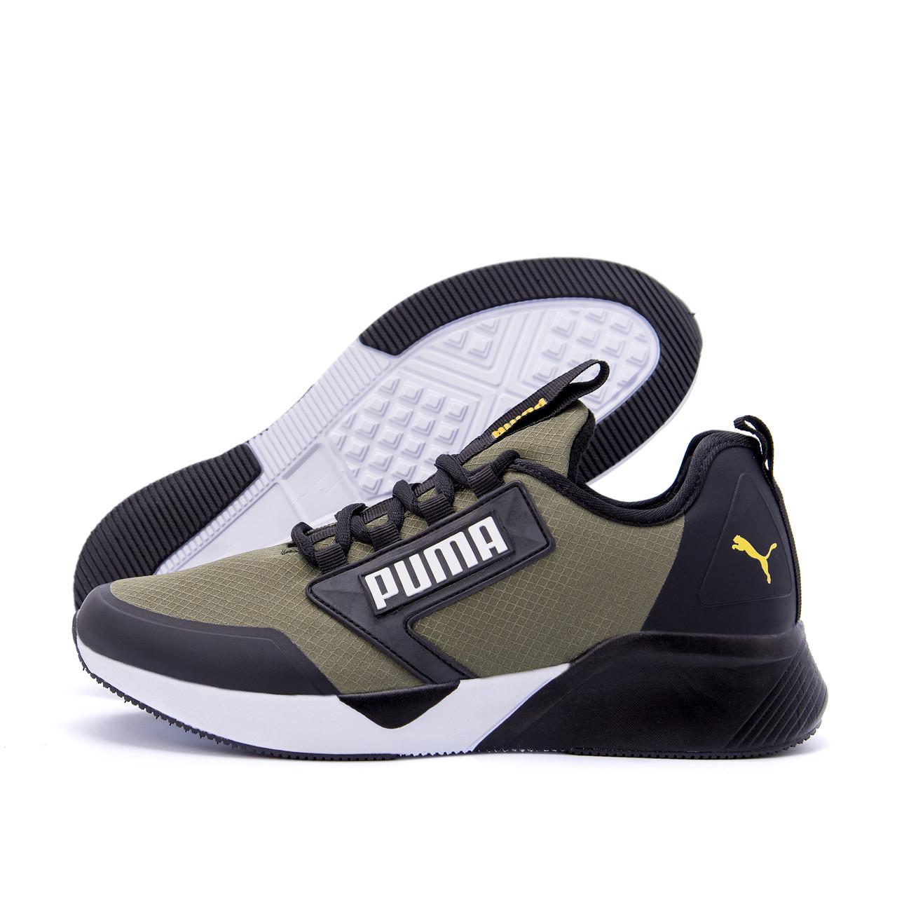 Мужские кроссовки Puma Retaliate Green  GORE-Tex утепление