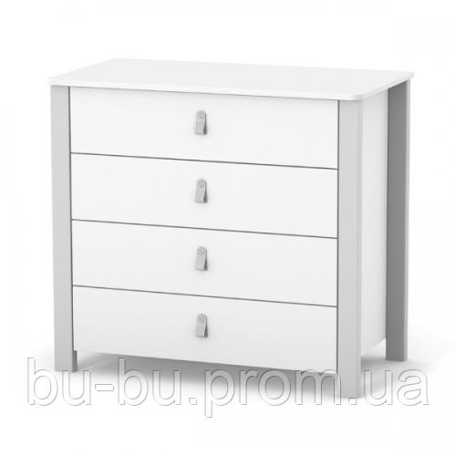 Комод Верес Монако 900 (цвет: бело-серый) добавить пеленальный блок 72*80 см