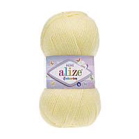 Alize Sekerim Bebe (Алізе Секерим Бебі) № 13 світло-жовтий (Акрилова пряжа, нитки для в'язання)