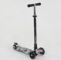 """Самокат """"BEST SCOOTER"""" А 25465 /779-1320 MAXI, пластик, 4 колеса PU, світло, алюмінієва трубка, d=12см"""