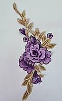 Лейсы нашивные 31*13,5см, фиолетовые 1шт