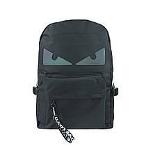 Рюкзак міський чорний з очима