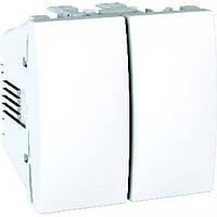 Выключатель Schneider-Electric Unica 2-клавишный белый (MGU3.211.18)