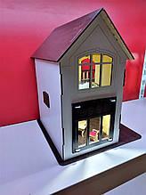 Кукольный домик для куклы Лол белый + Мебель в ПОДАРОК! 30см×23см