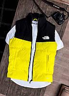 Жилетка мужская женская унисекс чёрная жёлтая The North Face
