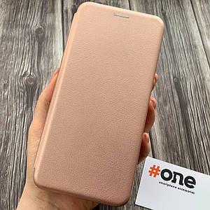 Чехол книга для Samsung Galaxy A71 с эко кожи с подставкой магнитом книжка на телефон самсунг а71 розовая STN