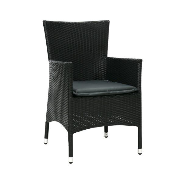 Кресло Каролина чёрный цв., кресло плетеное, кресло из искусственного ротанга - КомФорТиуМ в Киеве