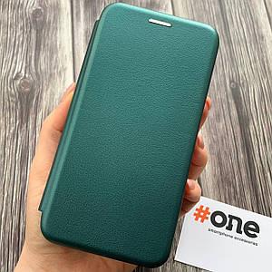Чехол книжка с магнитом для Samsung J3 2016 J320 эко кожа подставка чехол книга на самсунг дж3 дж320 зеленая