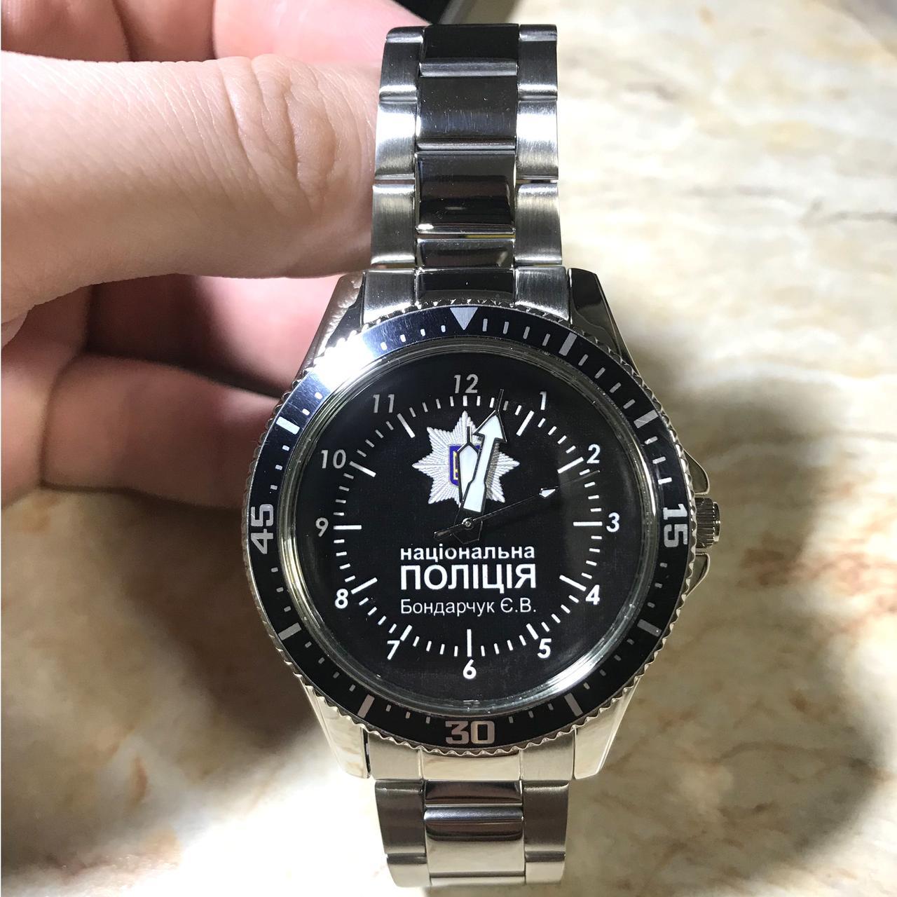 Часы наручные с логотипом (Національно Поліція України)