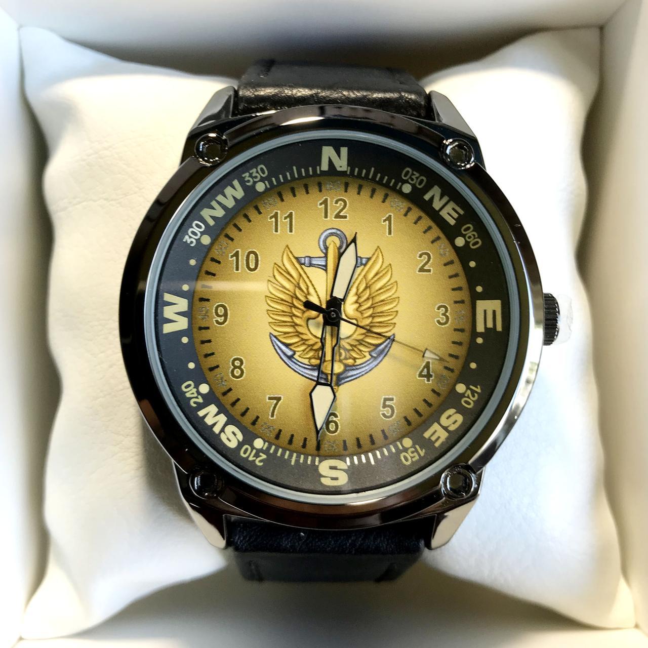 Часы наручные с логотипом Морська піхота України