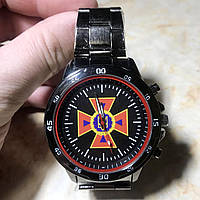 Часы наручные с логотипом ДСНС (Державна служба України з надзвичайних ситуацій), фото 1