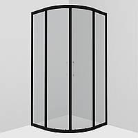 Душова кабіна AM.PM Joy Round 90х90 тонированное стекло, без піддона Black, W95G-301-090CM