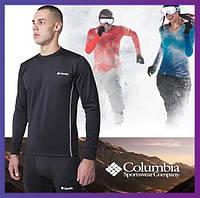 Термобелье мужское Columbia зимнее черное, комплект зимнего термобелья для повседневной носки
