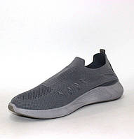 Серые мужские спортивные кроссовки на лето дышащие